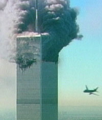 Twin Towering Inferno - symbolic & tragic moment
